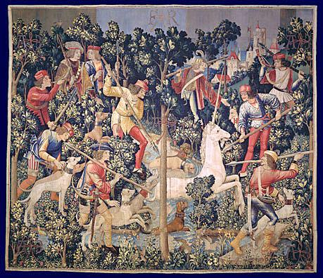 La licorne bleue flavigny c te d 39 or bourgogne licornes quand le monde tait enchant - Tapisserie dame a la licorne ...